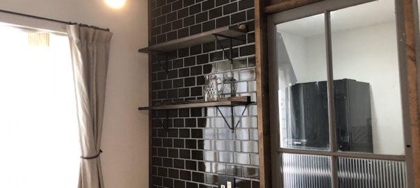 建売改造タイル壁