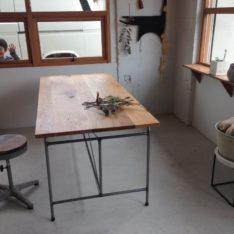 オーク材作業台テーブル
