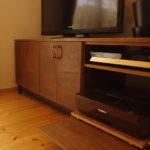 プリンターも入るテレビボード