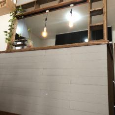 建売住宅のキッチン腰壁DIY工事