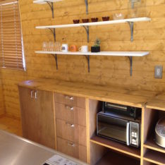 オリジナルキッチン収納カウンター