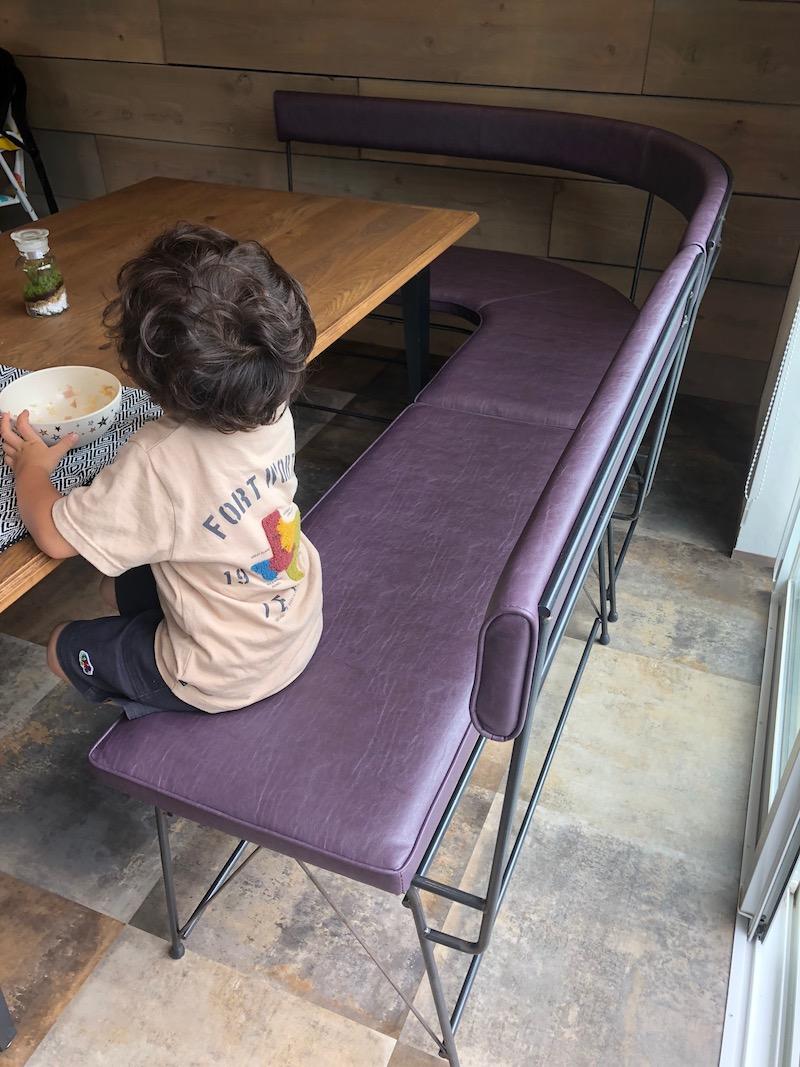 dinning bench-back