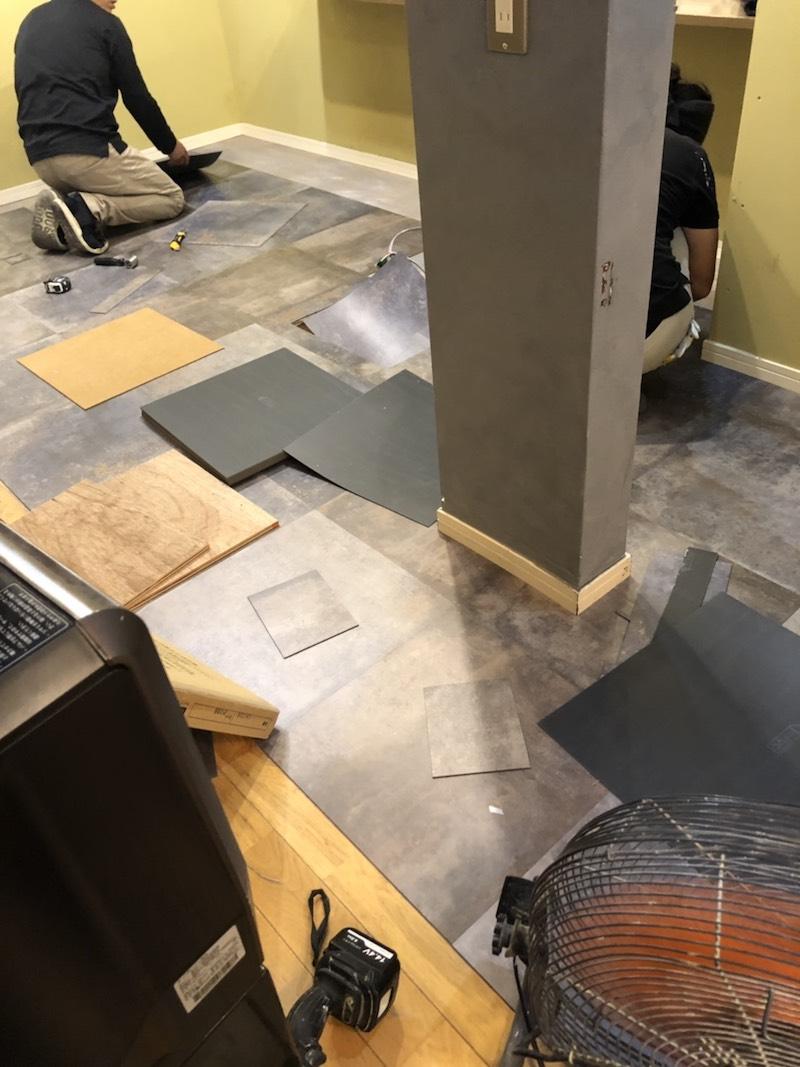 美容室床張り替え