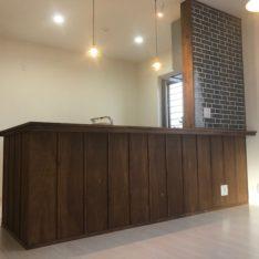 キッチン腰壁造作